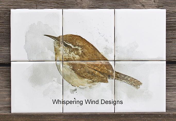 Tile Murals Backsplash Birds Wren 01